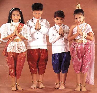Traditional Thai Dance Costume For Kids