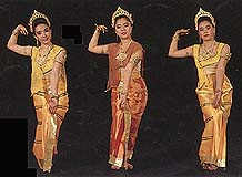 Thai women's dancing costume